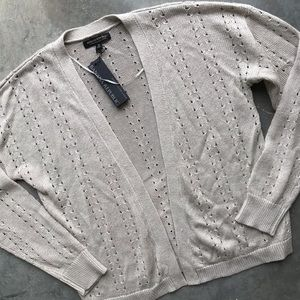 Banana Republic loose Knit cardigan - light gray
